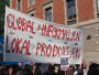 picture of banner with 'Global information - local production'